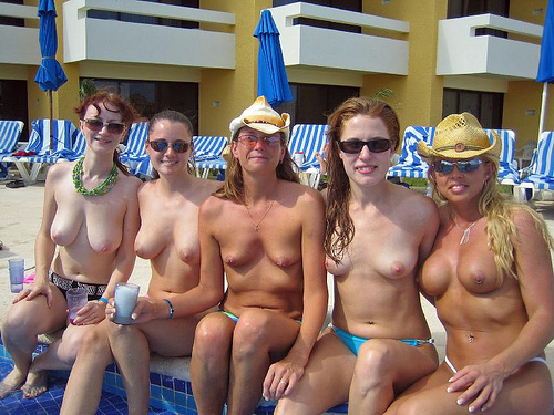 BBG, originally uploaded by jepcc. Four topless hot babes wearing ...: www.swingersblog.nude-beach-sex.com/tag/pool