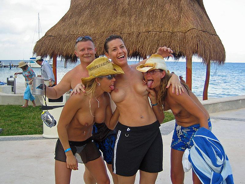 2142419056 3770084ca2 Cancun Topless Threesome