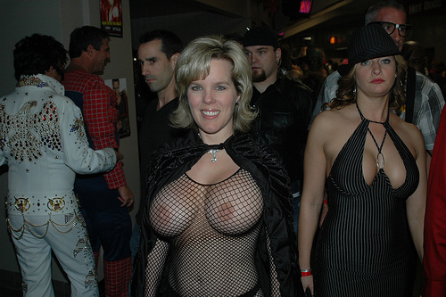 4367008101 8d14121556 See Through Mesh Top Wife Topless in Public