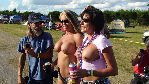 boobs at bike week