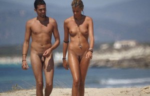 Nude Couple on Beach