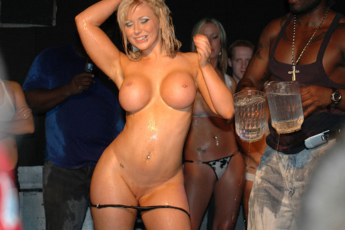 Dropping her thong to show off her pussy, originally uploaded by ...