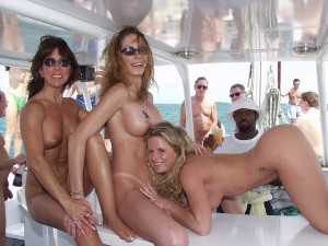 Nude Women Party Boat