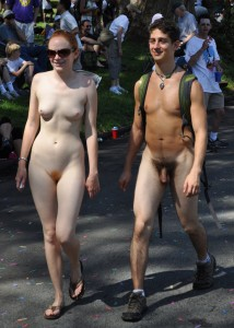Bay to Breakers Nude Couple