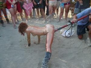 Burning Man Pole Fuck