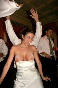 bride-flashing-boobs