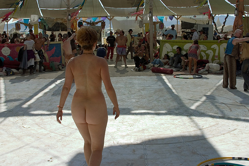 3951883076 84a39751e1 Burning Man Naked Woman
