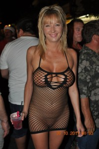 Fantasy Fest Nude Fishnet Dress