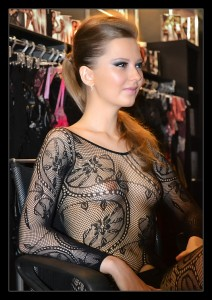 lace see through blouse
