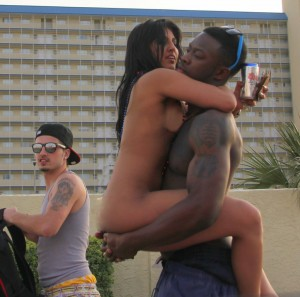 spring break nude interracial