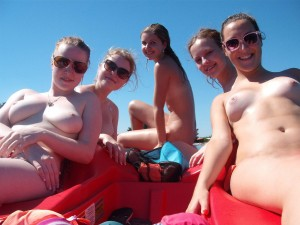 sisters cousins topless beach