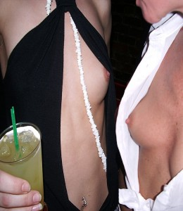 topless cocktail dress