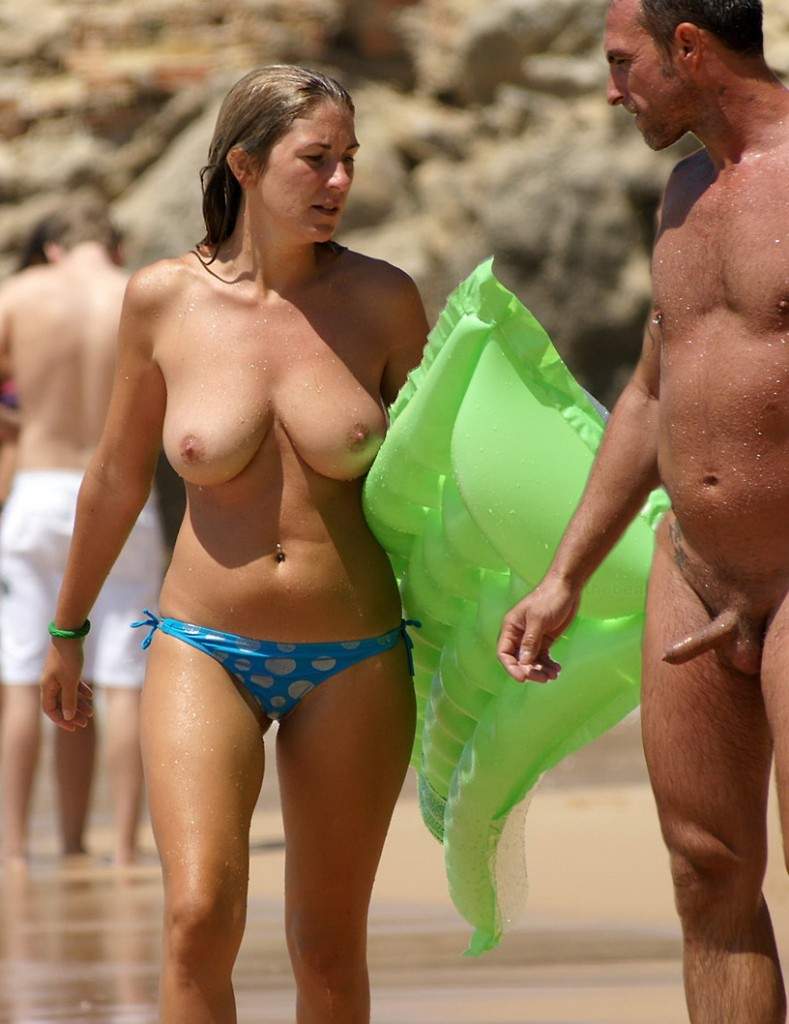 topless woman erect man 31 789x1024 Erect Man Topless Woman Nude Beach