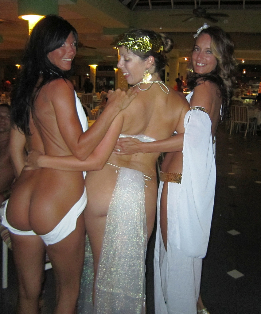 Wife naked after party