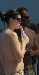 Topless Cruise Couple