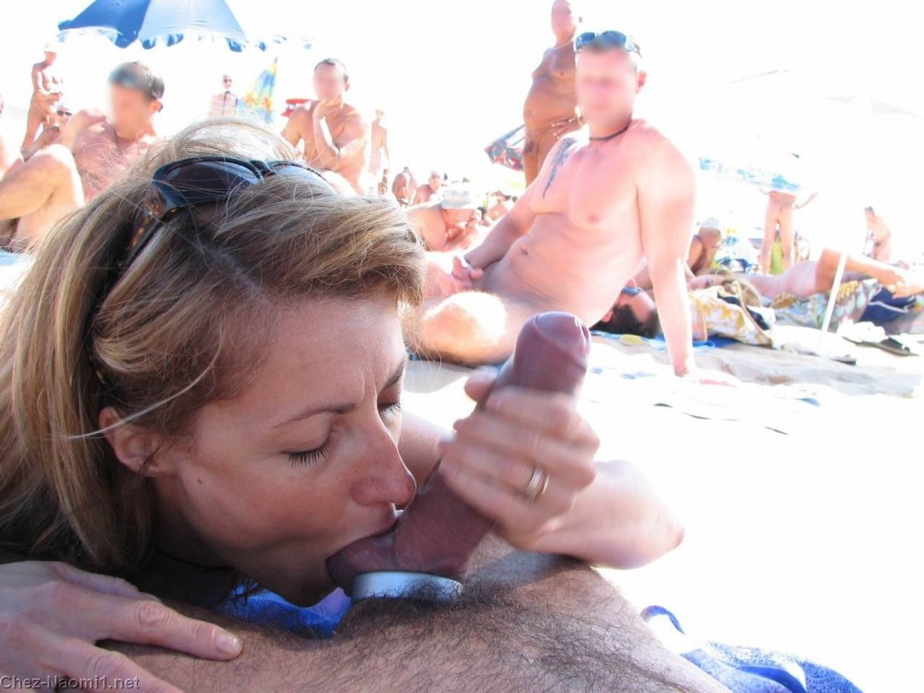 Sucking nude cock beach