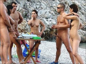 Nude beach erections