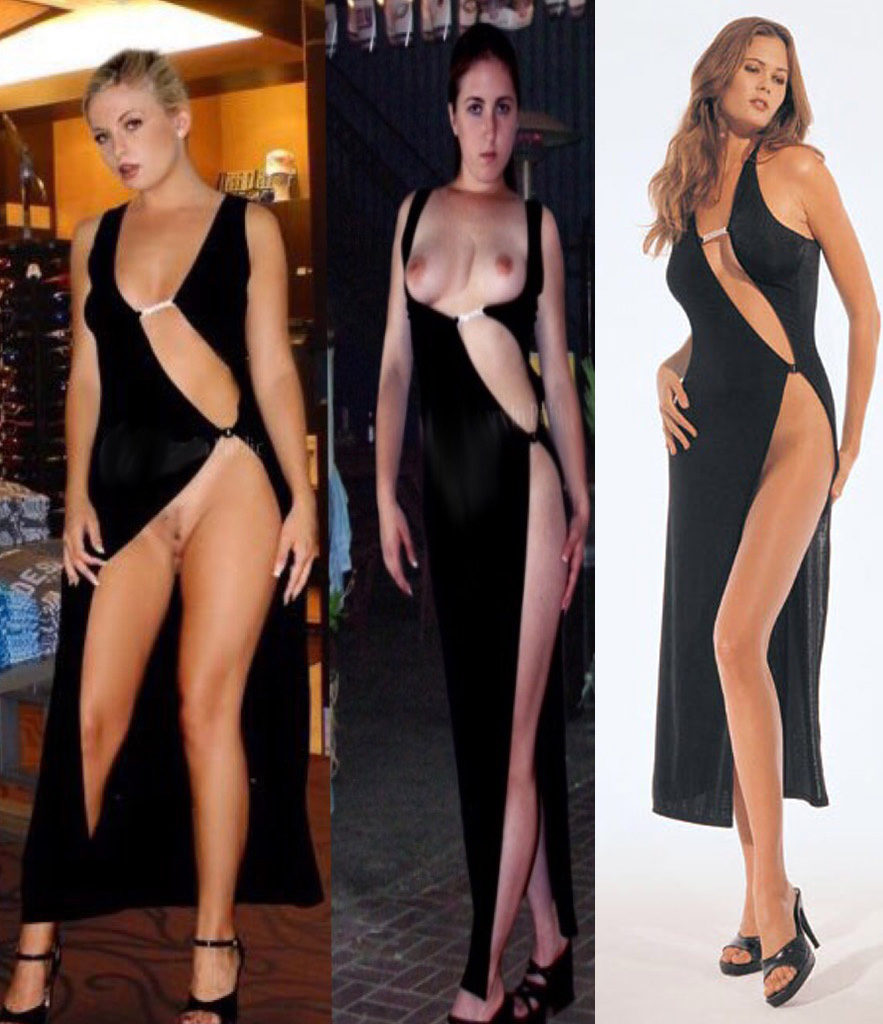open front slit dresses